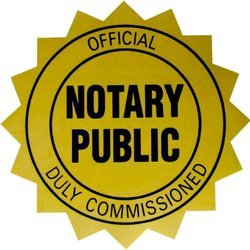 Notary Public Official seal